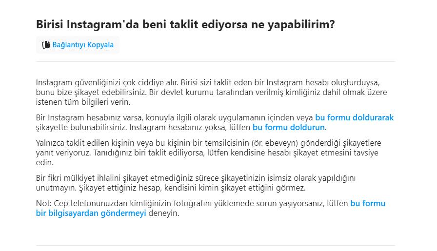 Instagram Taklitten Kapanan Hesabi Acma